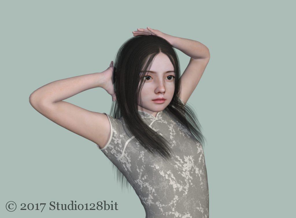 ゆな チャイナドレス1